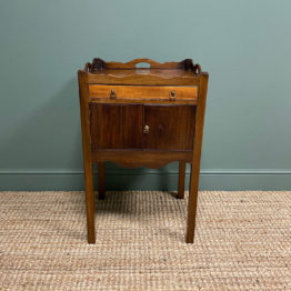 Antique Tray Top Commode / Night Stand