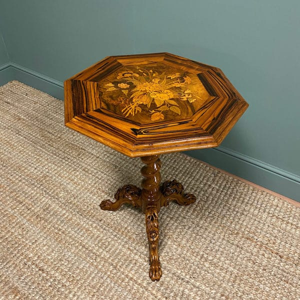 Fine 19th Century Coromandel and Marquetry Occasional Table