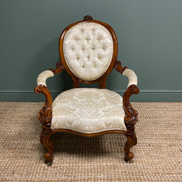 Superb Quality Antique Victorian Upholstered Armchair