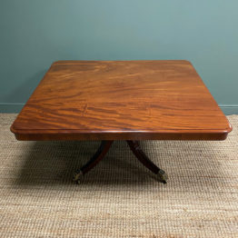 Large High Quality Regency Mahogany Antique Dining Table