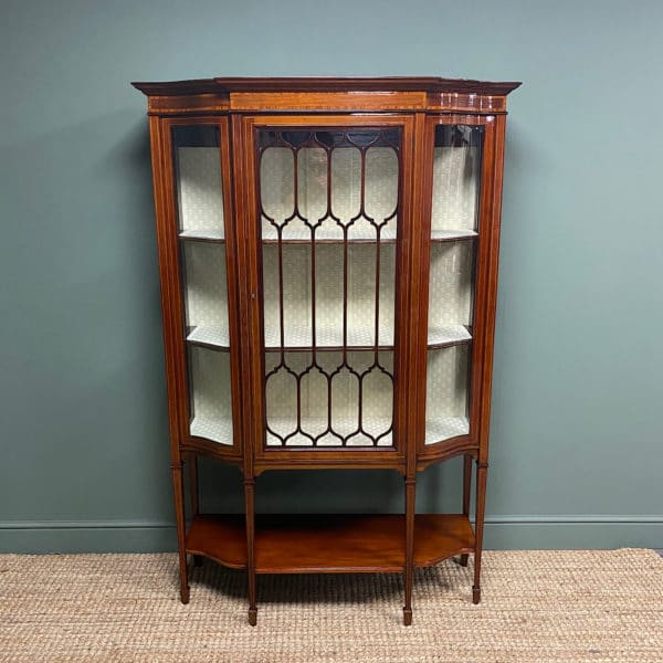 Exhibition Quality Victorian Inlaid Antique Display Cabinet
