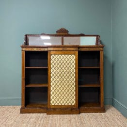 Regency Rosewood Antique Chiffonier Bookcase