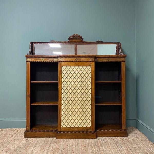 Regency Rosewood Antique Chiffonier Bookcase