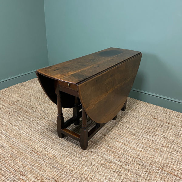 17th Century Country Oak Antique Gate Leg Table