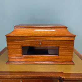 Striking Victorian Mahogany Antique Letter Box
