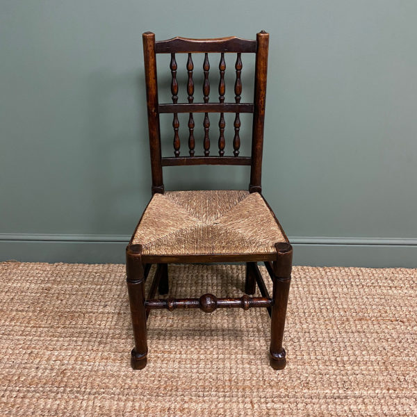 Georgian Country House Oak & Elm Antique Chair