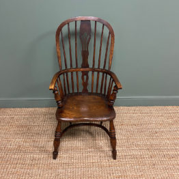 Victorian Country Oak Antique Windsor Chair