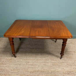 Quality Small Mahogany Antique Victorian Extending Dining Table