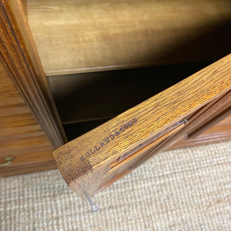 Spectacular Holland & Sons Large Oak Antique Cabinet