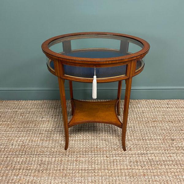 Stunning Victorian Satinwood Bijouterie Jewellery Table