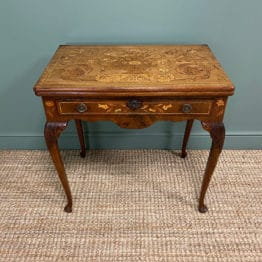 Rare 18th Century Dutch Marquetry inlaid Antique Games Table.