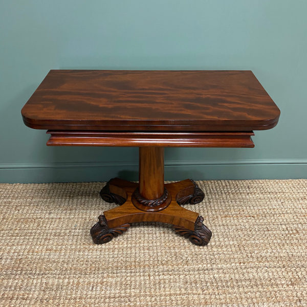 Spectacular Quality Regency Mahogany Antique Tea Table / Console Table