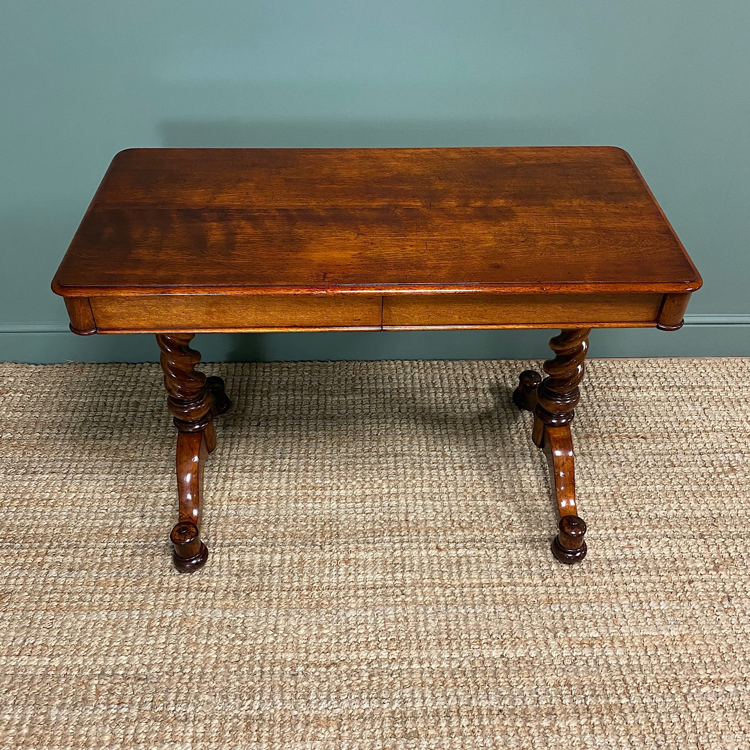 Stunning Antique Mahogany Library Table by Charles Hindley & Sons
