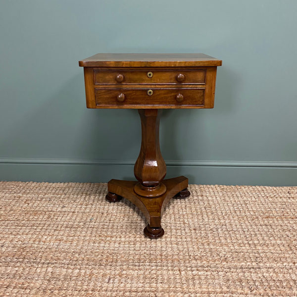 Elegant Victorian Mahogany Antique Occasional Side Table / Lamp Table