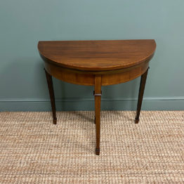 Elegant Small Edwardian Antique D End Games / Side Table