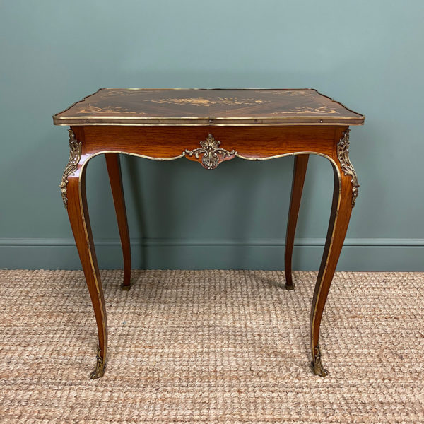 Spectacular 19th Century Kingwood Antique Writing Table