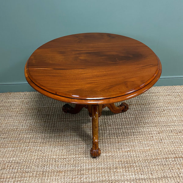 Spectacular Mahogany Small Victorian Circular Antique Dining Table