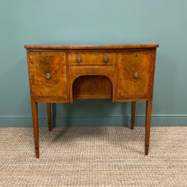 Bow Fronted Regency Mahogany Antique Sideboard