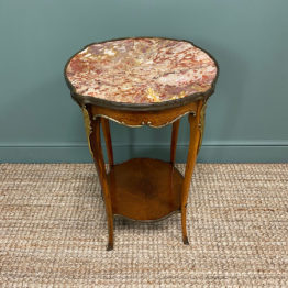 Striking French Kingwood Antique Occasional Lamp Table