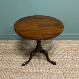 Quality Cuban Mahogany Georgian Antique Tripod Occasional Table
