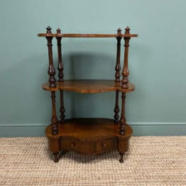 Quality Victorian Rosewood Antique Whatnot