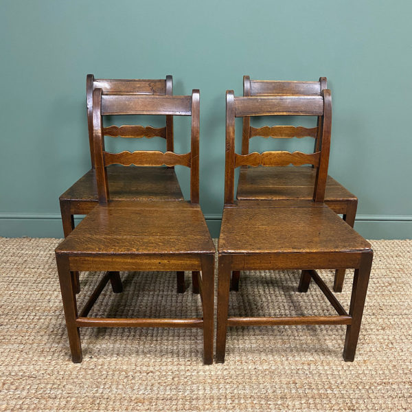 Set of Four Country House Georgian Antique Chairs