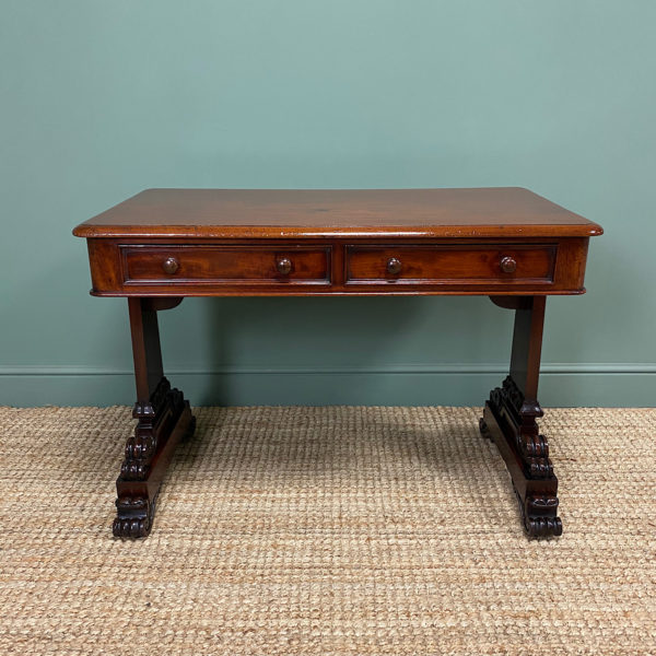 Quality Victorian Mahogany Antique Writing Library Table