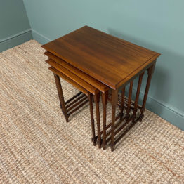 Nest of Four Edwardian Mahogany Antique Occasional Tables