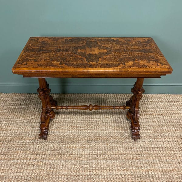 Spectacular Quality Figured Walnut Antique Card Table / Games Table
