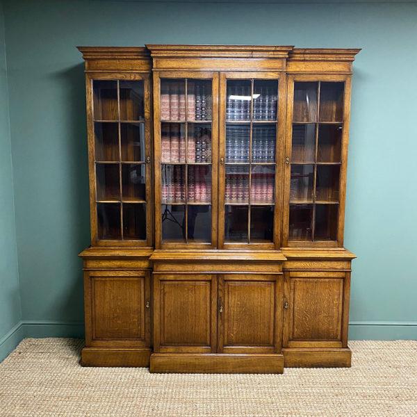 Super Quality Solid Oak Antique Library Bookcase