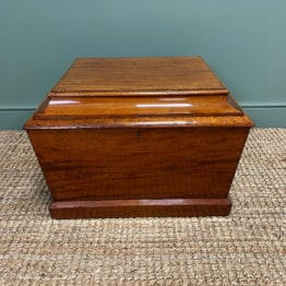 Small Regency Mahogany Antique Cellaret / Wine Box