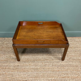 Georgian Mahogany Butlers Tray Top Antique Coffee Table