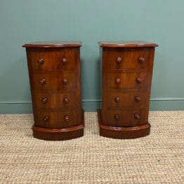 Pair of Victorian Mahogany Antique Bedside Cabinets