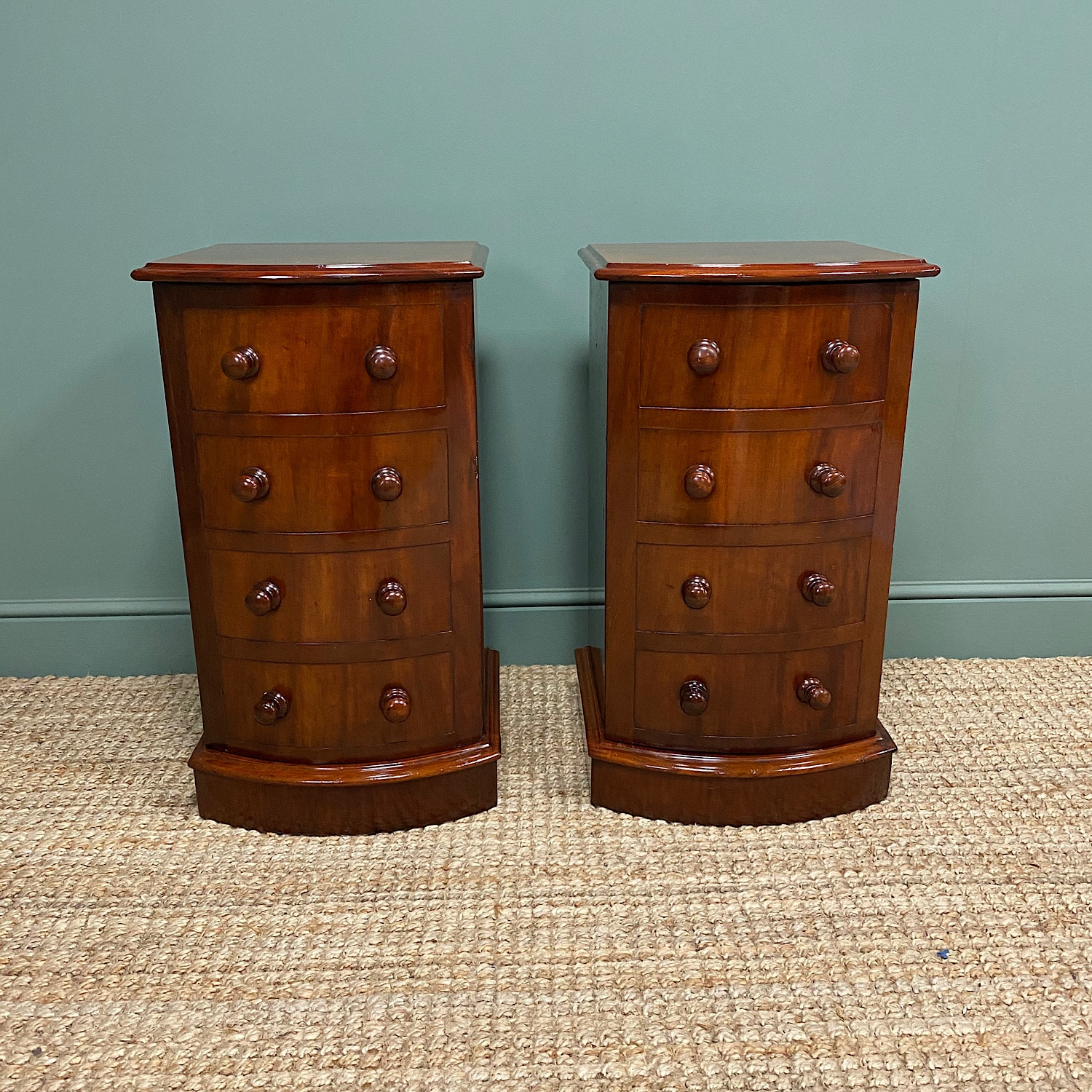 Picture of: Pair Of Victorian Mahogany Antique Bedside Cabinets Antiques World