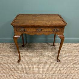 Victorian Oak Antique Silver Table