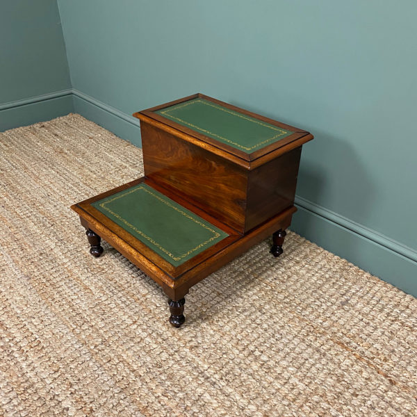 Victorian Mahogany Antique Library Steps