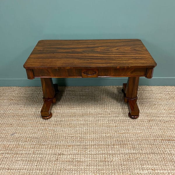 Beautiful Large Victorian Antique Rosewood Writing Table