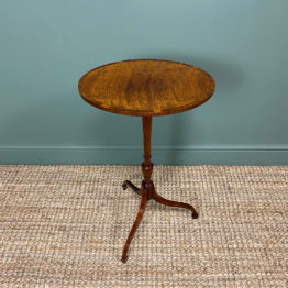 Elegant Sycamore and Yew Antique Wine Table