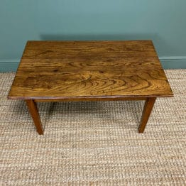 19th Century Elm and Cherry Antique Coffee Table