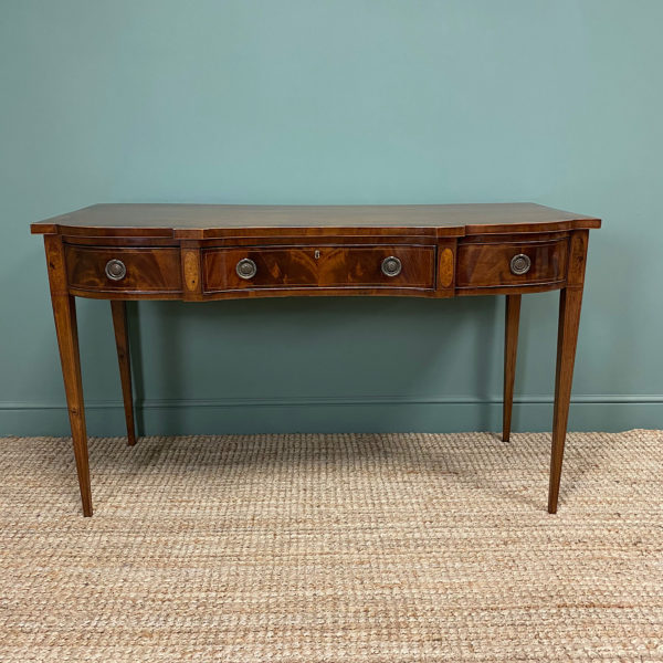 Outstanding Victorian Mahogany Antique Console Table