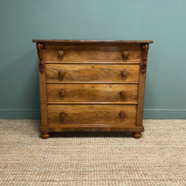 Quality Victorian Antique Mahogany Chest of Drawers
