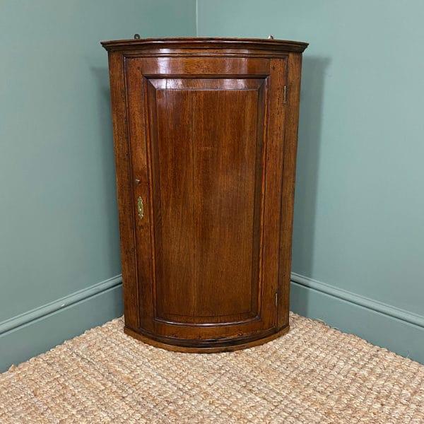 Georgian Oak Antique Corner Cupboard