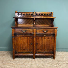 Victorian Holland and Sons Antique Oak Sideboard