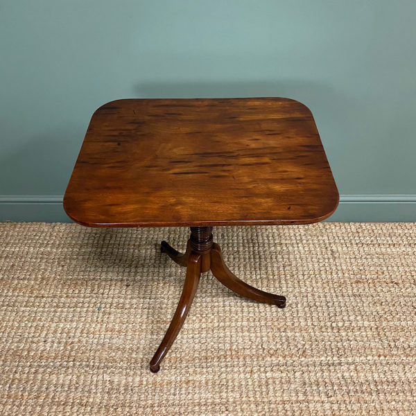 Fine Regency Mahogany Antique Tripod Occasional Table
