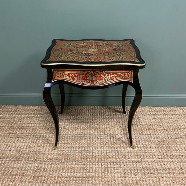 Small 19th Century Antique Boulle Work Table