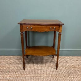 Small Edwardian Mahogany Antique Side Table