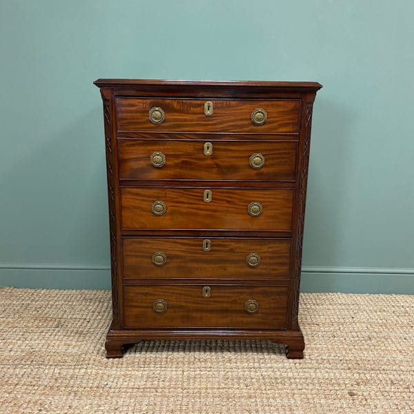 Quality Edwardian Mahogany Secretaire Chest
