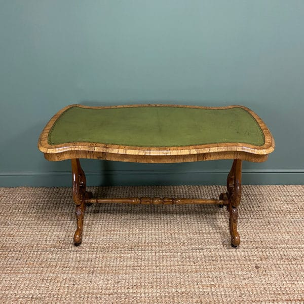 Victorian Golden Rosewood Antique Writing Table