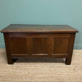 Warm Country Oak Early Eighteenth Century Antique Coffer.