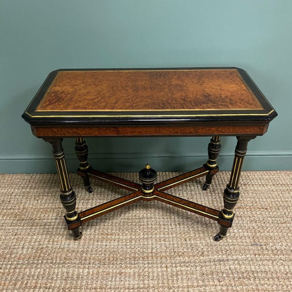 Spectacular Amboyna Antique Card Table